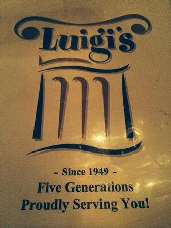 Luigi's: Old world style.