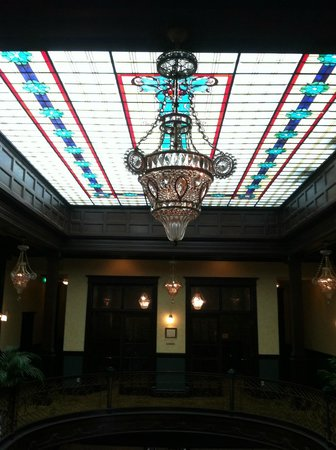 Geiser Grand Hotel: Custom Glass Chandeliers in the Lobby and 2nd floor Library area