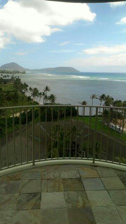 The Kahala Hotel & Resort: View from a staircase at the Kahala Hotel and Resort.