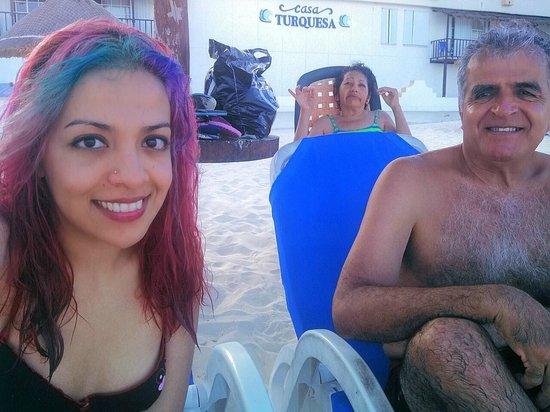 Hotel Casa Turquesa: En la playa privada del hotel
