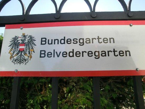 Schloss Belvedere: 入口
