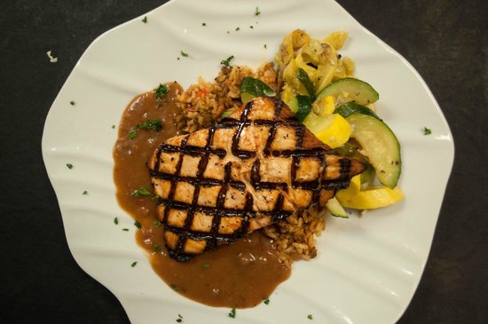 Dead Fish Grill: Creole Whiskey Salmon