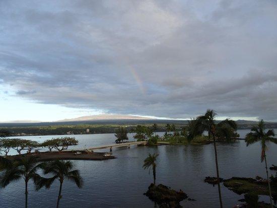 Castle Hilo Hawaiian Hotel : View from the Balcony