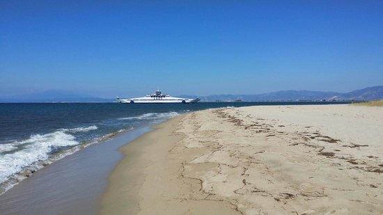 Hotel Kassiani: La plage