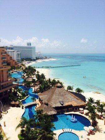 Grand Fiesta Americana Coral Beach Cancun: Our balcony view at Fiesta Americana Grand Coral. July 2014