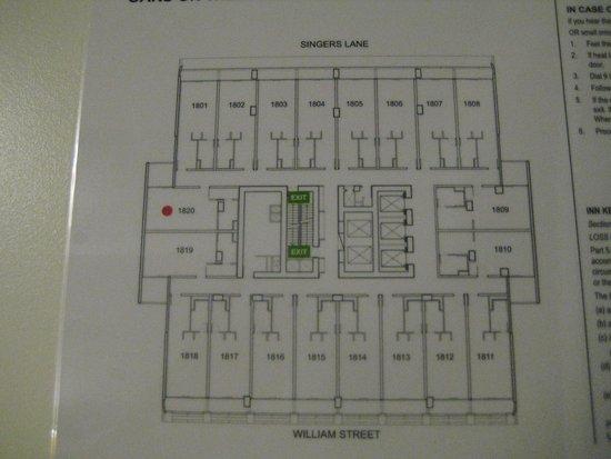 Oaks On William: Floor plan 18th Floor