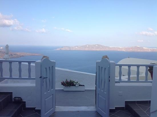 Santorini View: the view from our balcony