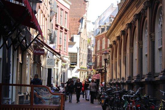 Hotel Cafe Corner House : улица около отеля (слева отель)