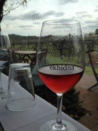 Ekhidna Wines McLaren Vale Cellar Door: Ekhidna Rose, taken with the pork belly. Yum