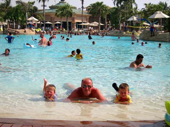 Chilling at the zero entry pool Picture of Atlantis The Palm