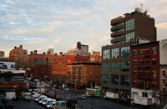"""High Line: Вид с Хай-лайн на город (""""южный"""" конец парка)"""