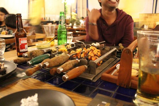 Barbeque Nation : BBQ on table
