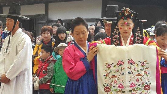 Korean Folk Village: Korean wedding ceremory
