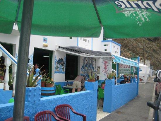 Casa Africa - Bar Playa: Terraza exterior