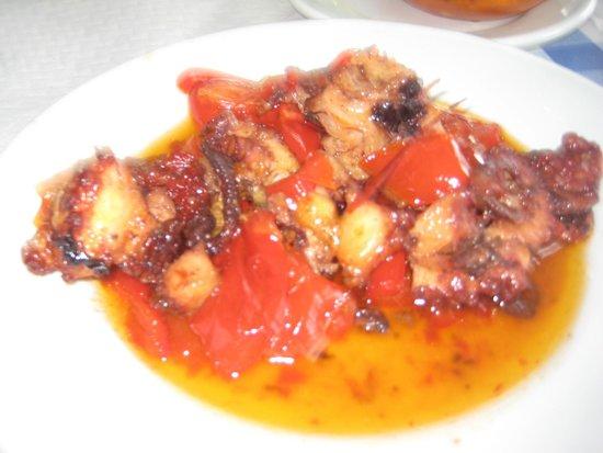 Casa Africa - Bar Playa: Pulpo frito