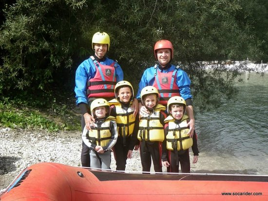 Soca Rider: rafting with kids