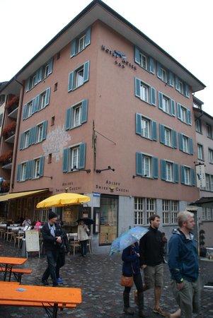 Hotel Adler: Hotelansicht von der Gasse
