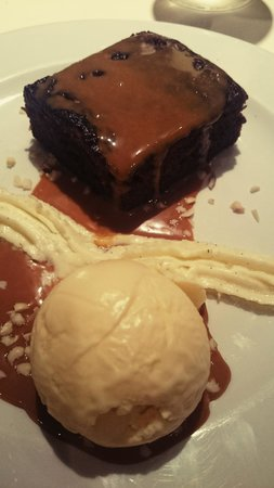 Conservatory Restaurant - Exeter: sticky toffee pudding