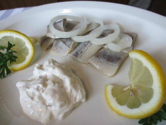 Little Schnitzel House: herring appetizer