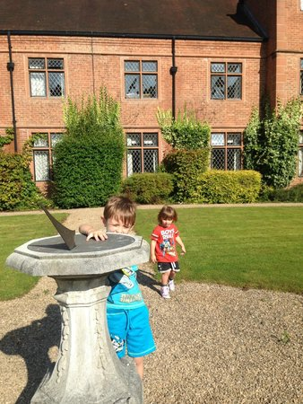 New Hall Hotel & Spa: the sun dial with our room in the background