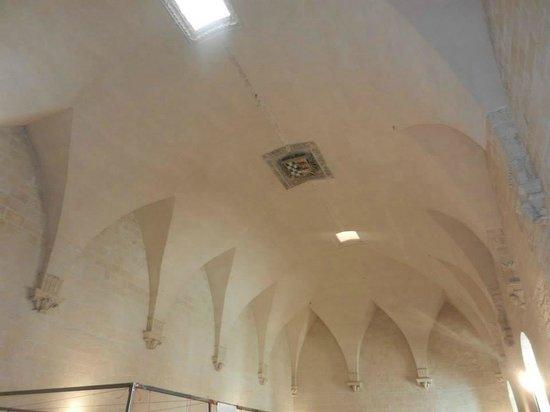 Castello Carlo V : Interno del castello, soffitto