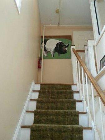 Pig Hill Inn : stairs to th pig