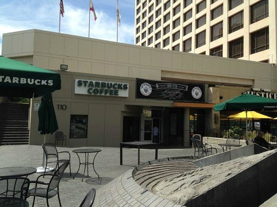 there is a starbucks in the hotel 39 s grounds picture of. Black Bedroom Furniture Sets. Home Design Ideas