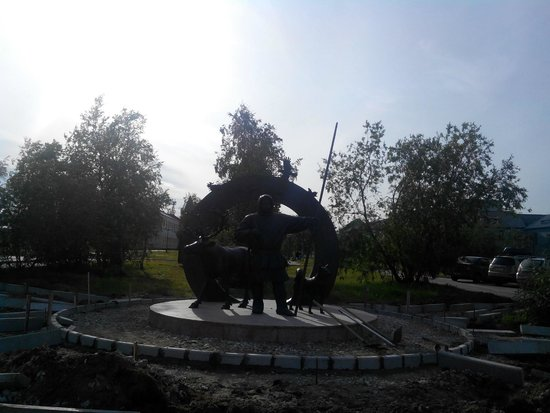 ‪Monument to Feat of Deer-Transport Battalion Participants During Great Patriotic War‬
