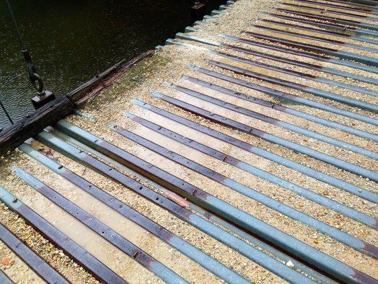 Swinging Bridge: Deck of the 1st, smaller bridge