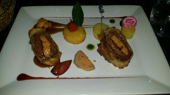 Aux petits plaisirs : Filet de boeuf angus et foie gras....