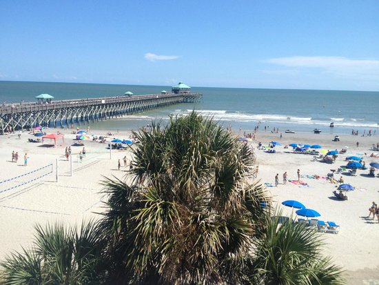 view from our room picture of tides folly beach folly. Black Bedroom Furniture Sets. Home Design Ideas