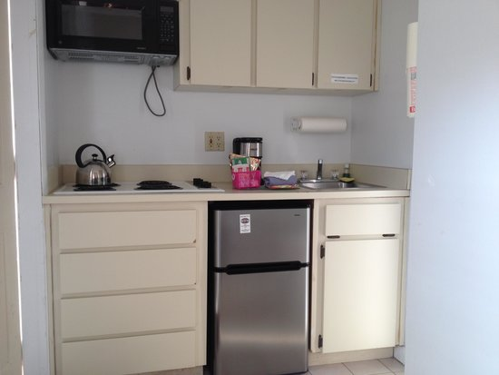 The Club at Cape Cod: kitchenette with small refrigerator