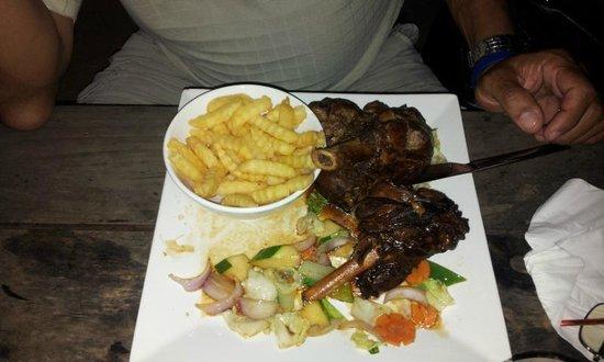 Kaz Kreol Restaurant & Beach Club : Lamb Shanks @Kaz Kreole
