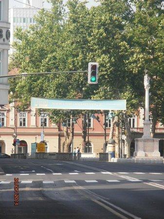 City Hotel Ljubljana: Empty Ljubljana streets on Sunday