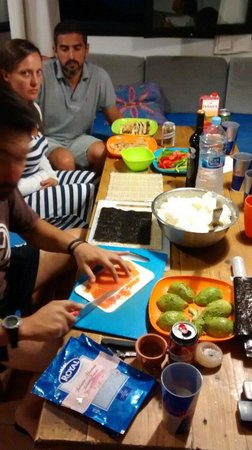 Surf Riders Fuerteventura: Sushi night! Thank you Tora!