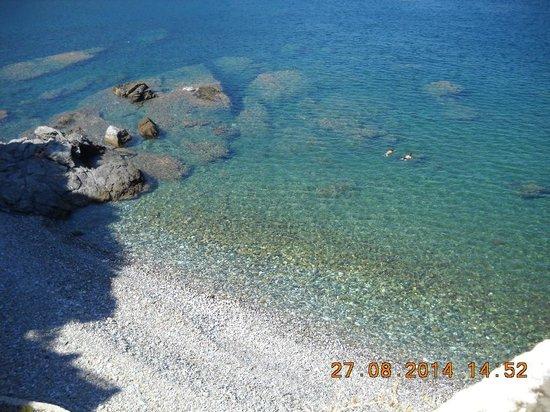 Bird Island: City beach in Skopelos