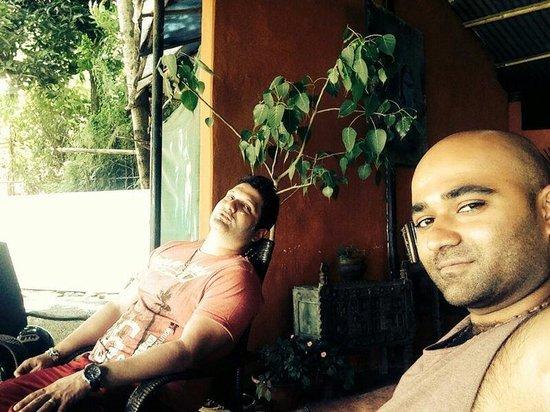 Burger Bar: My bro n me at Pokhara beach club