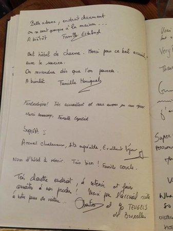 Le Petit Casset: Extrait de notre livre d'or Août 2014