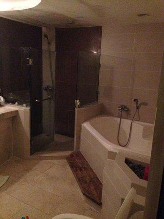 Boracay Terraces Resort: huge bathroom but dim lights/need cleaning