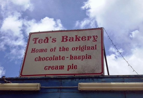 Ted's Bakery: Sign on the roof