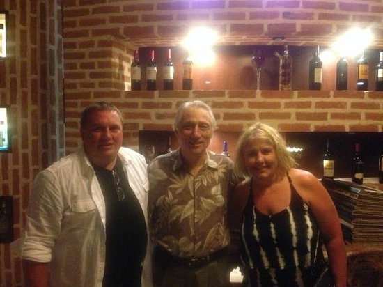 Sorrisi: My wife and I, and the owner.