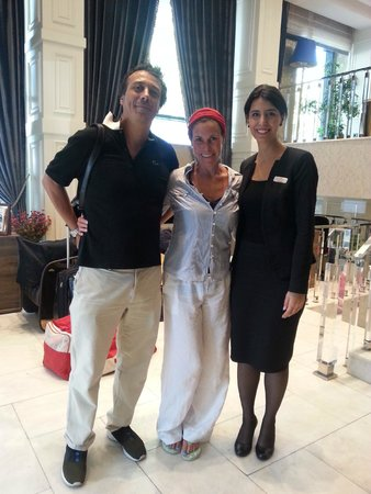 Pierre Loti Hotel: with the lovely Esin...organizer of all