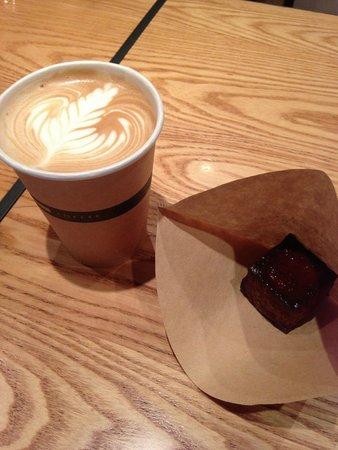 Omotesando Koffee: Cappuccino with baked custard.