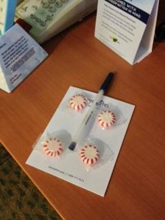 Microtel Inn & Suites by Wyndham Kingsland: Mints on bedside table