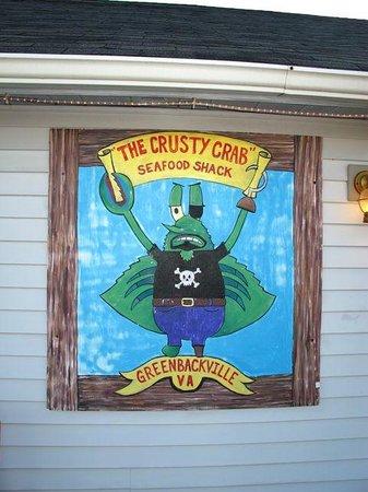 Crusty Crab Seafood Shack: Exterior sign