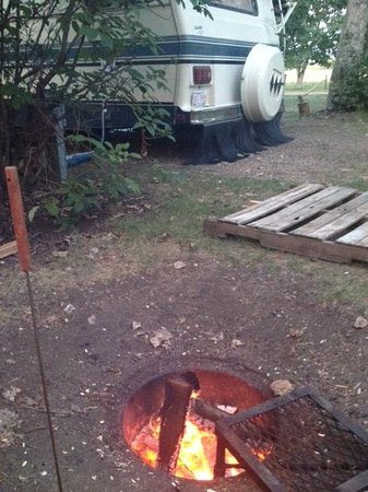 Ol' MacDonalds Resort: Fire Pit to Neighbour