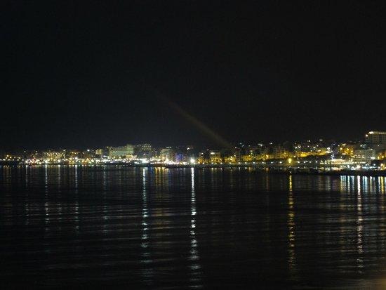 Ambassador Hotel: Balcony view over the bay at night