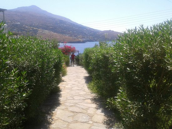 Villa Elpida Studios: entry path