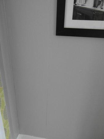 The Cumberland Hotel: Wallpaper initial peeling off
