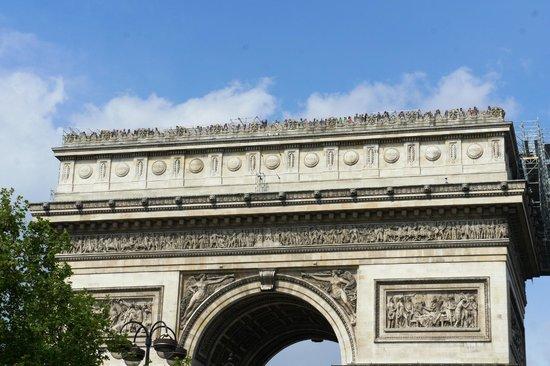 Arc de Triomphe : La parte superiore